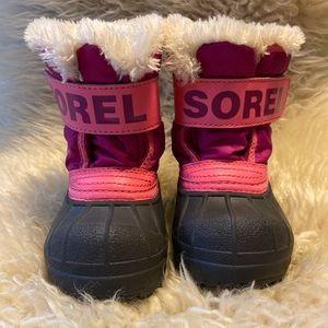 Sorel Snow Commander Boots Size 4 (Toddler)